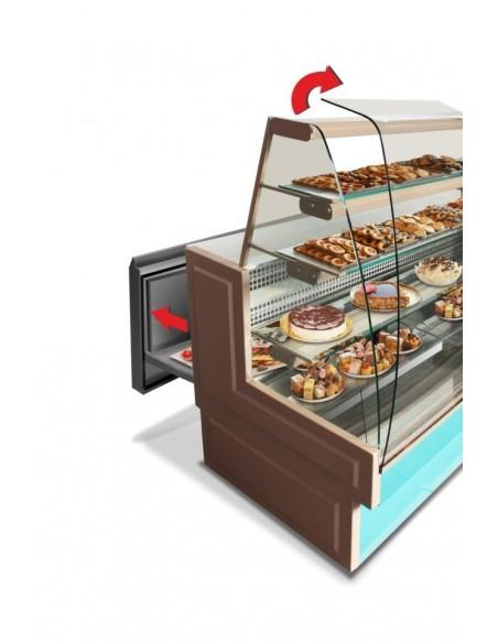 espositore refrigerato orizzontale rivo - aperto