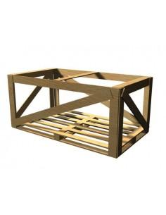 Gabbia legno vetri smontati