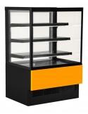 vetrina evok arancio base nera