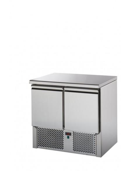 Saladette 2 porte con piano in acciaio inox
