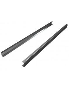 Guide in acciaio Inox a C per armadi frigo 700 e 1400 litri