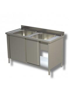 Lavatoio 2 vasche alzatina prof. 70cm
