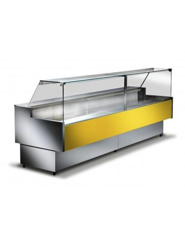 Giallo RAL1018 - Banco refrigerato ventilato da esposizione M 800 Frontale Alto