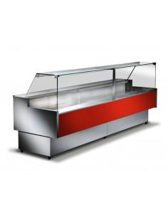 Rosso RAL3020 - Banco refrigerato ventilato da esposizione M 800 Frontale Alto