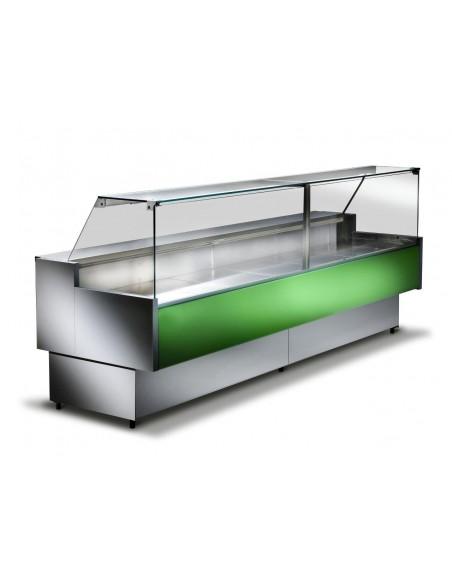 Verde RAL6026 - Banco refrigerato ventilato da esposizione M 800 Frontale Alto