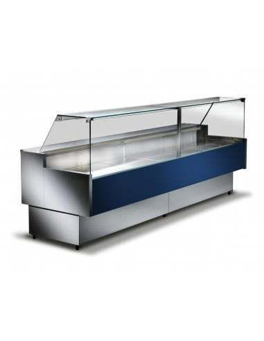 Blu RAL5013 - Banco refrigerato ventilato da esposizione M 900 Frontale Alto