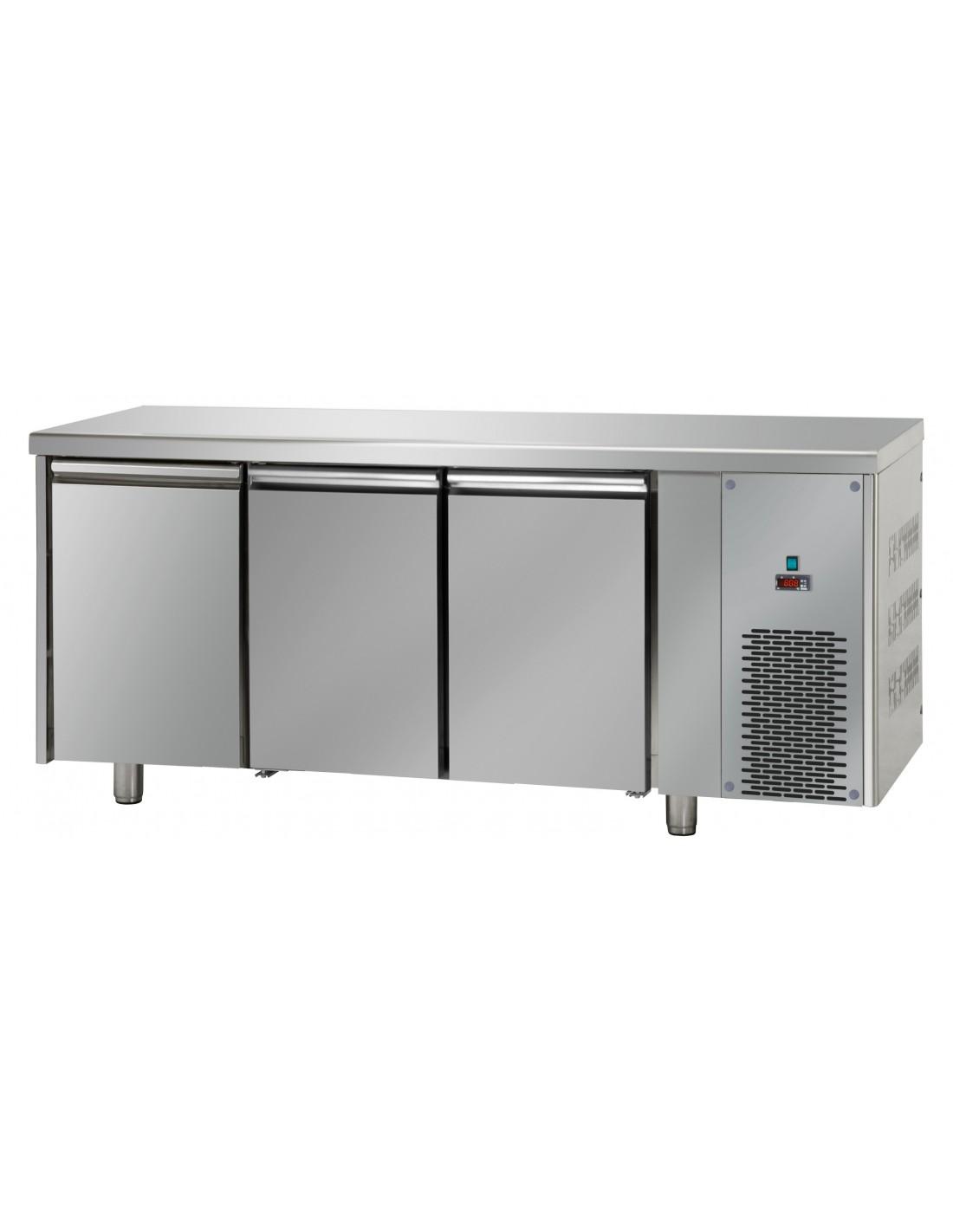Tavolo refrigerato inox -18°/-22° Posizione gruppo motore Destra Alzatina No