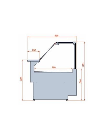 Dimensioni Banco Frigo M 900 Frontale Basso