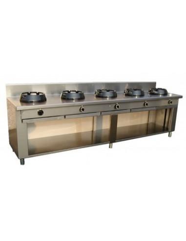 cucina 5 fuochi a gas