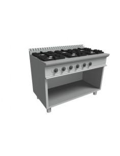 Cucina 6 fuochi gas