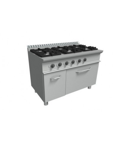cucina 6 fuochi + forno gas